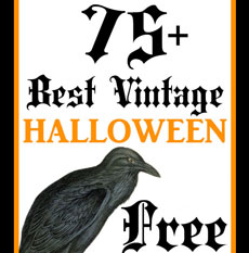 75+ Best Free Vintage Halloween Images!