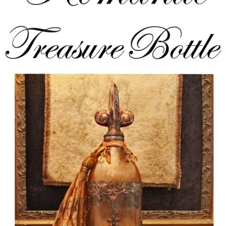 How to Antique Glass: Make a Bohemian Bottle – Gorgeous!!
