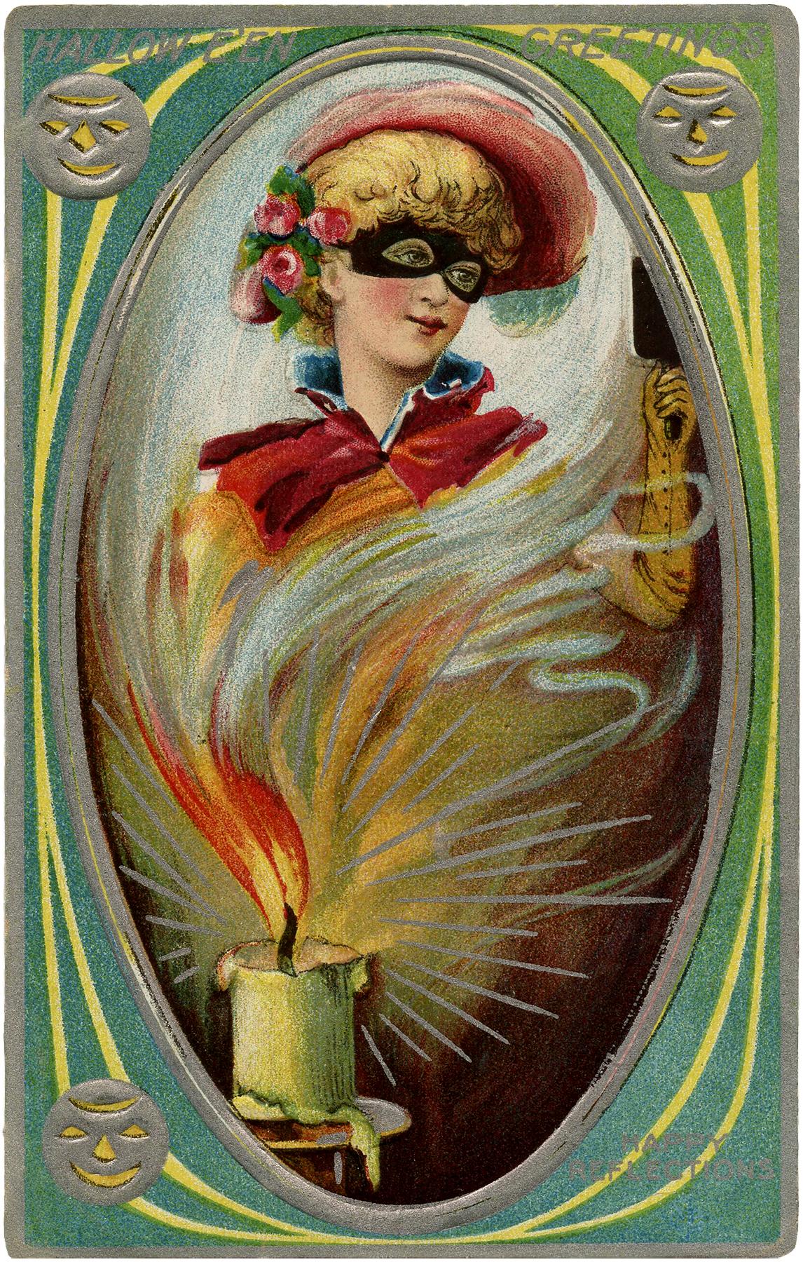Halloween Mystery Lady Image