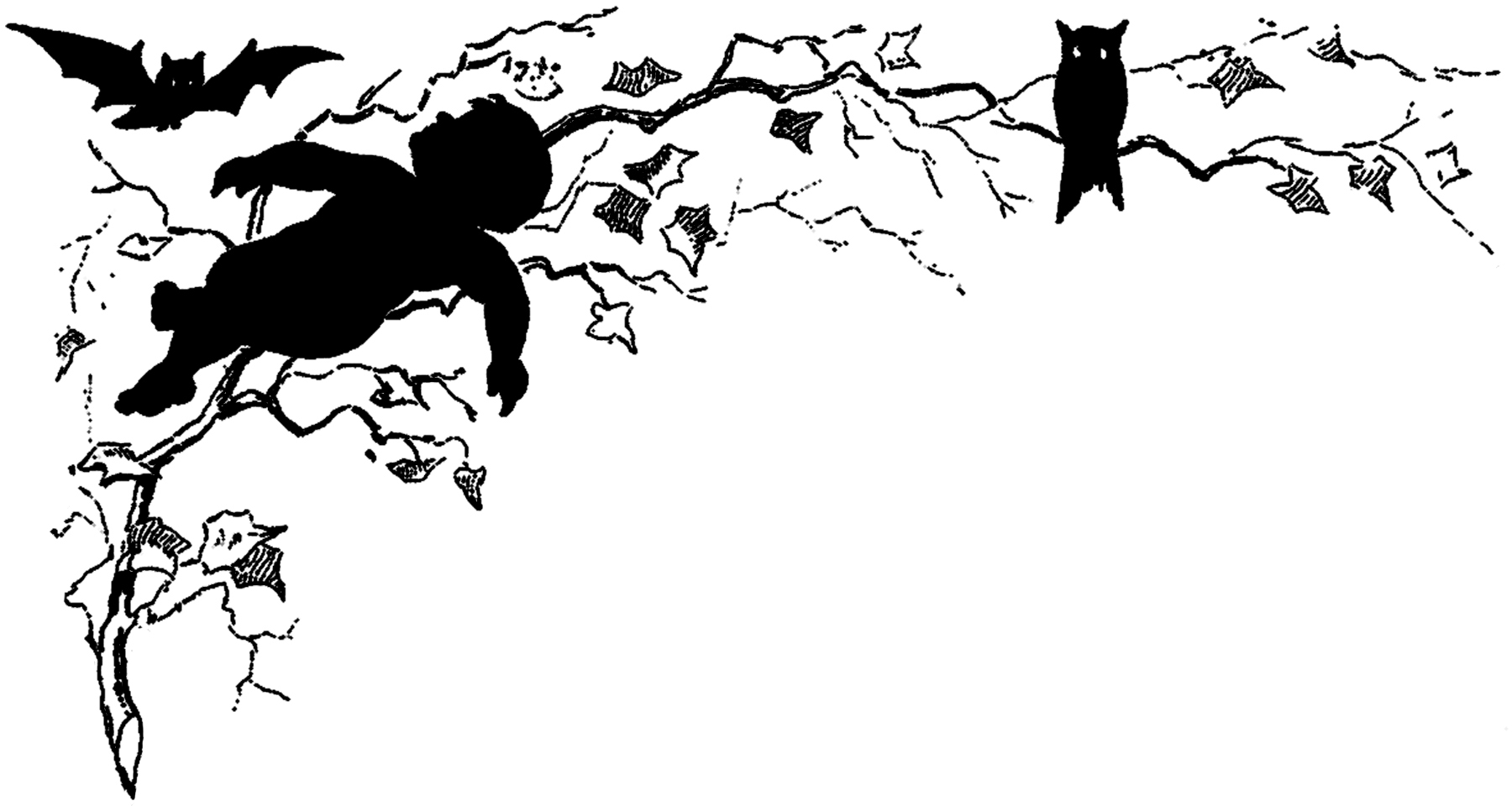 Halloween Silhouette Image - Quirky! - The Graphics Fairy