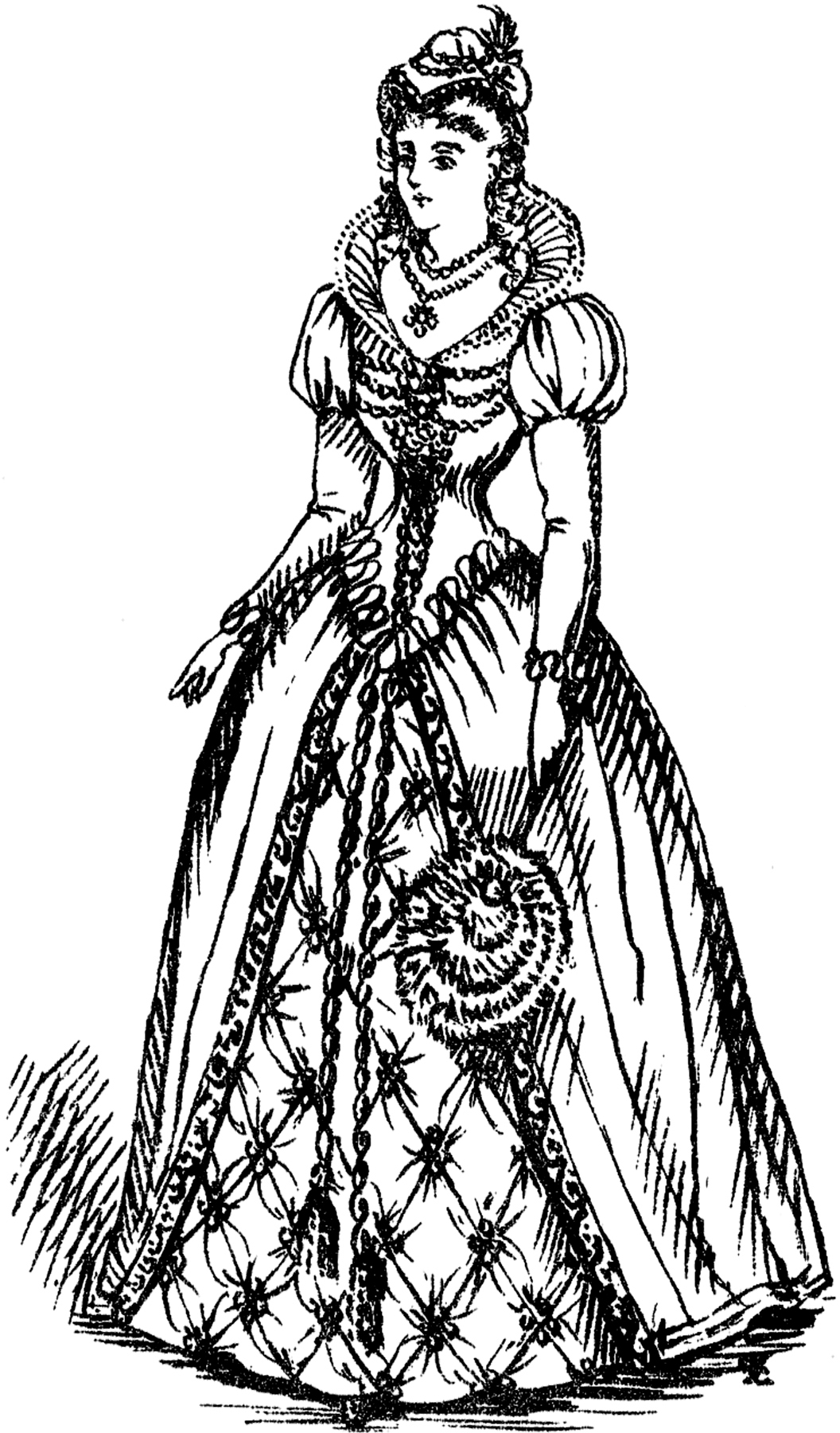 Medieval Lady Costume Image