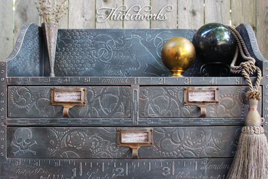 Painted furniture projects archives the graphics fairy for Steampunk furniture diy
