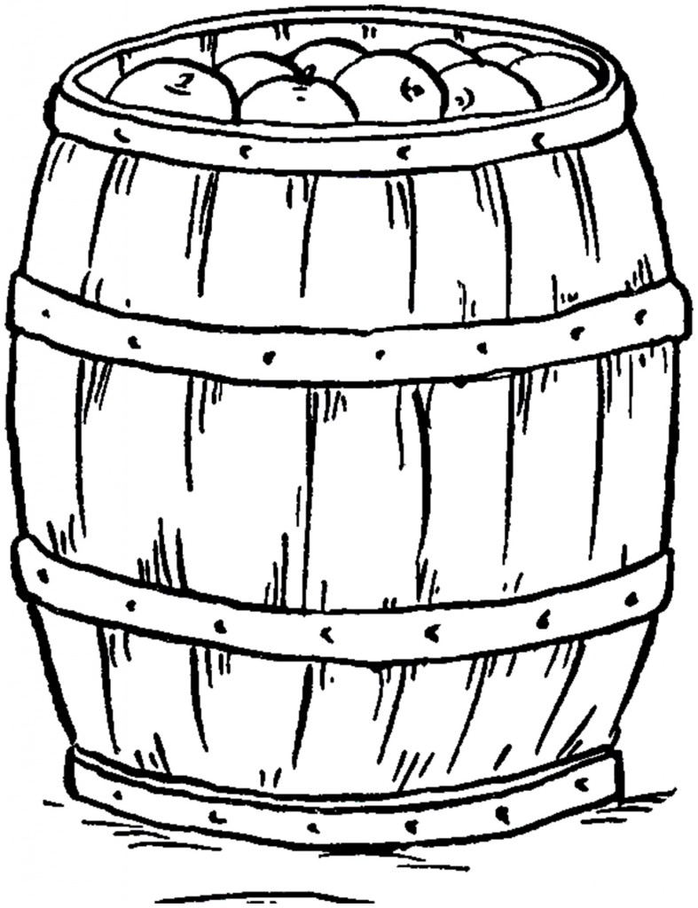 Vintage Apple Barrel Image