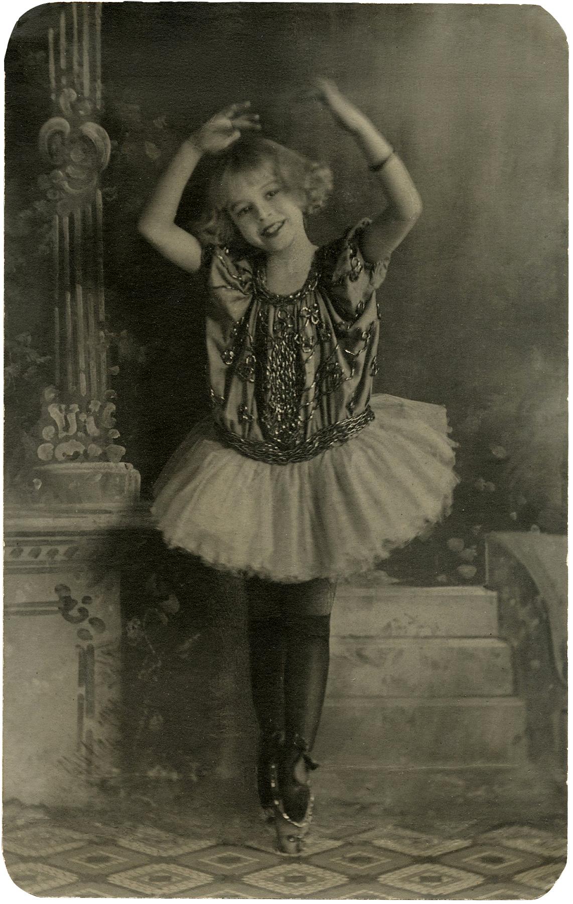 Vintage Ballerina Girl Photo Download