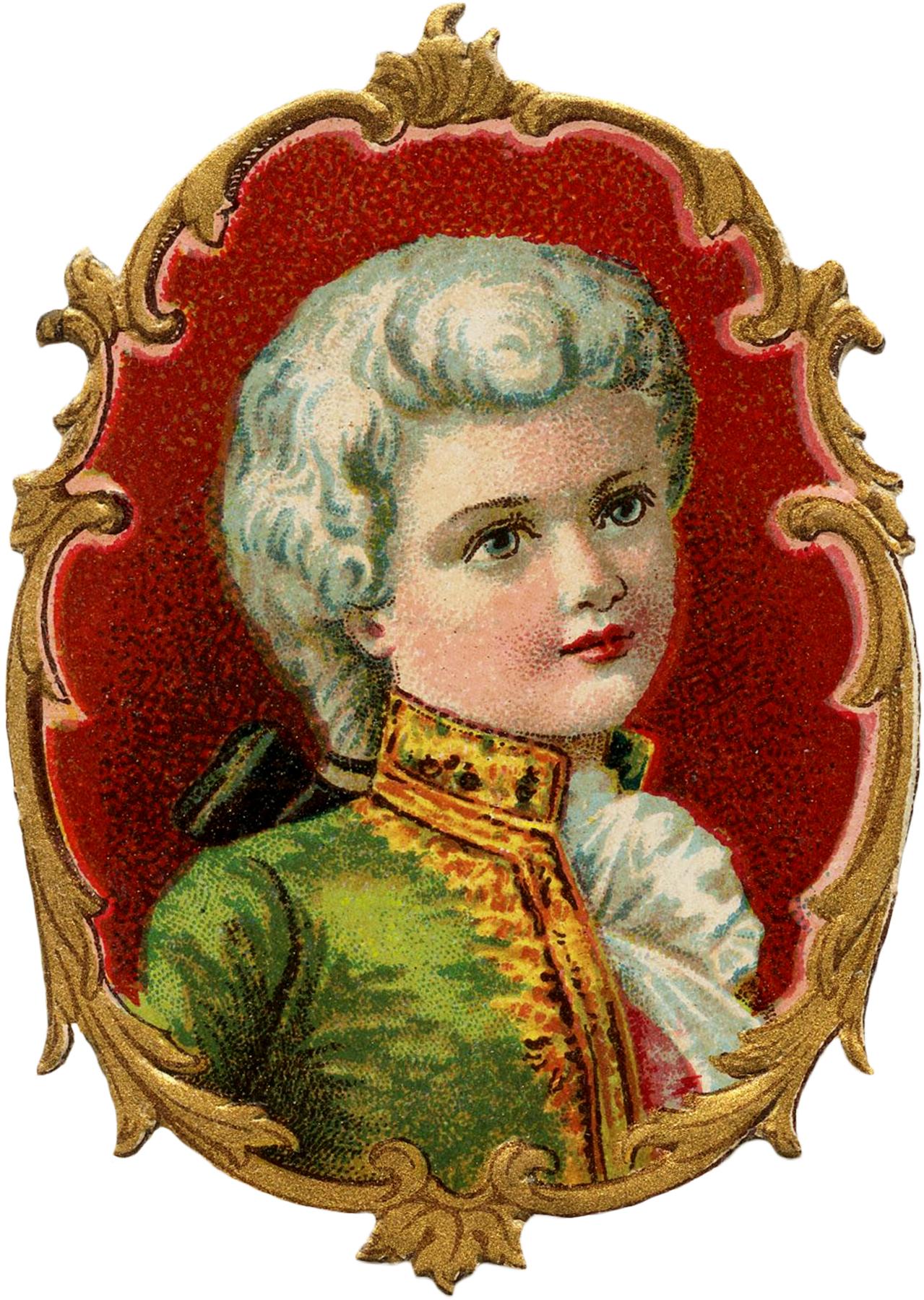 Vintage Colonial Boy Image