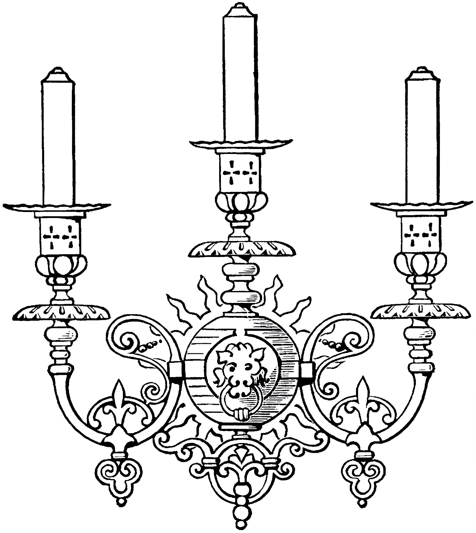 Great Vintage Gothic Candle Sconce Image