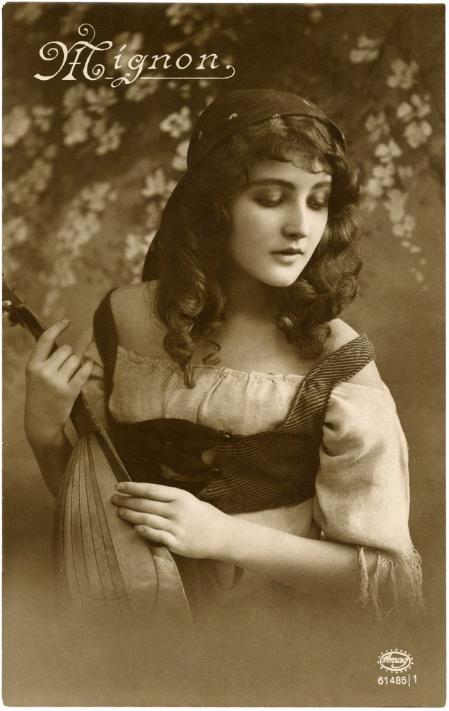 Vintage Gypsy Postcard Image