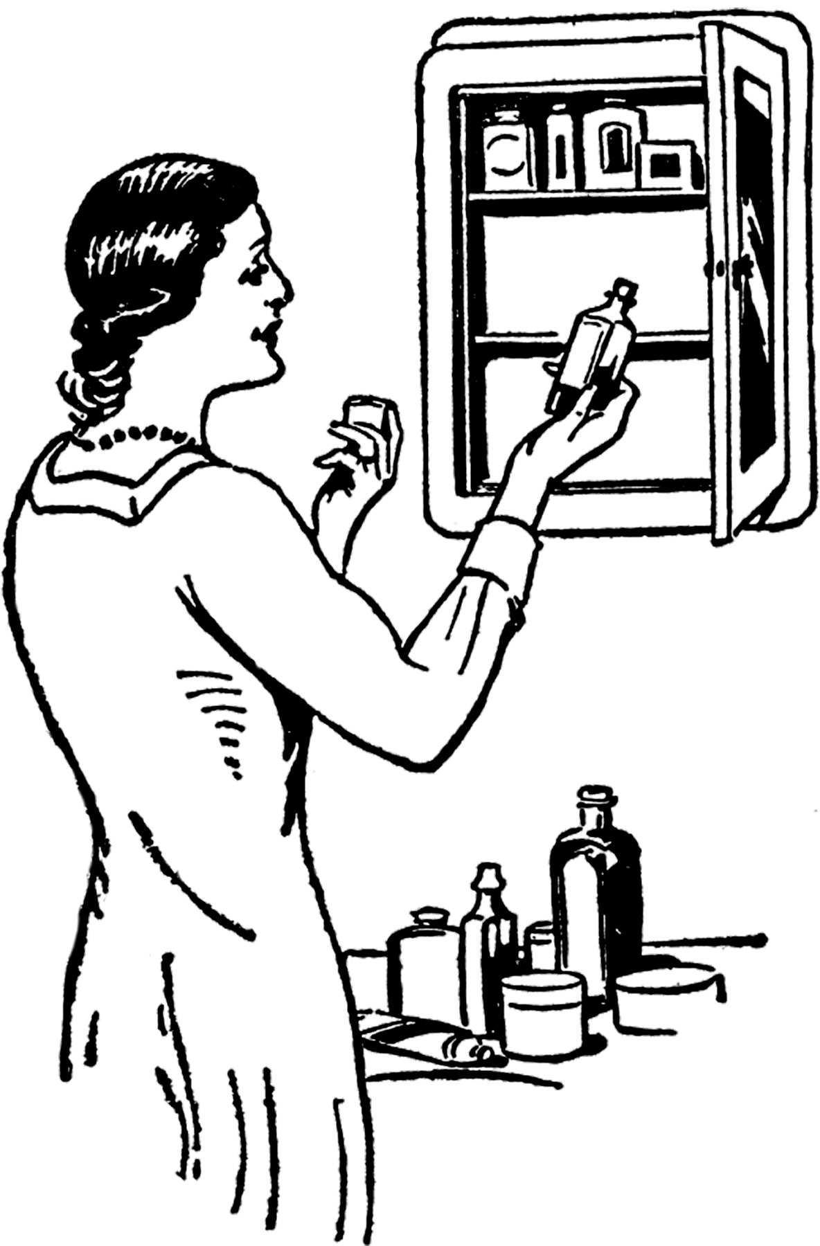 Vintage Medicine Cabinet Image The Graphics Fairy