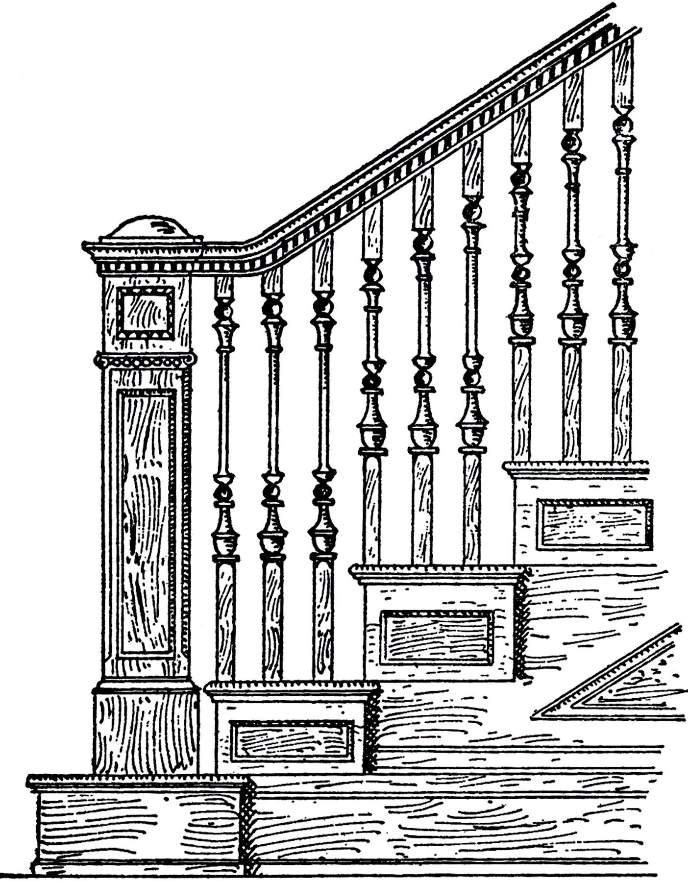 Vintage Oak Staircase Image