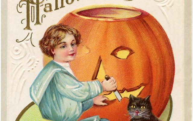 Vintage Pumpkin Carving Image!