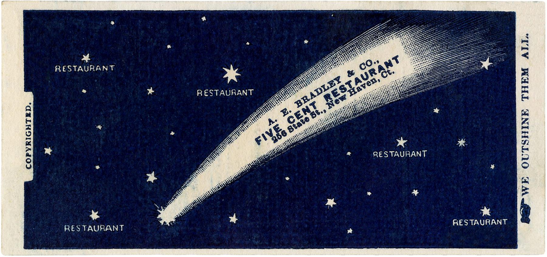 Vintage Restaurant Ad Image