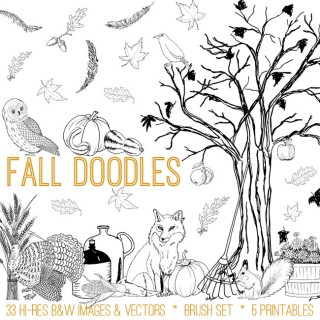 Fall Doodles Kit – TGF Premium!