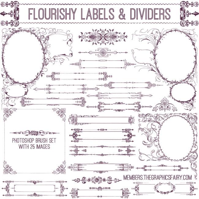flourishy_frames_brushes_graphicsfairy