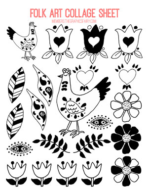 folk_art_collage_sheet_1bw_graphicsfairy