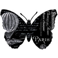 Black French Butterfly Transfer
