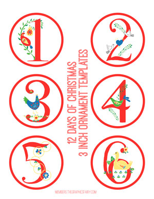 graphic about 12 Days of Christmas Printable Templates named Massive 12 Times of Xmas Package - TGF High quality! - The Graphics