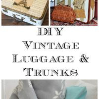 12 DIY Vintage Luggage and Trunk Ideas