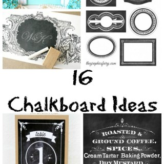 16 Chalkboard Ideas