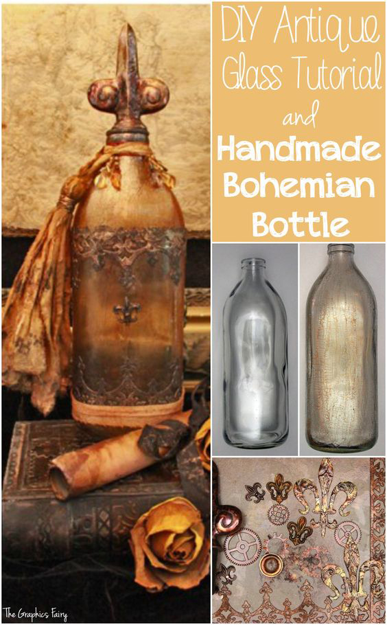 Antique Treasure Bottle