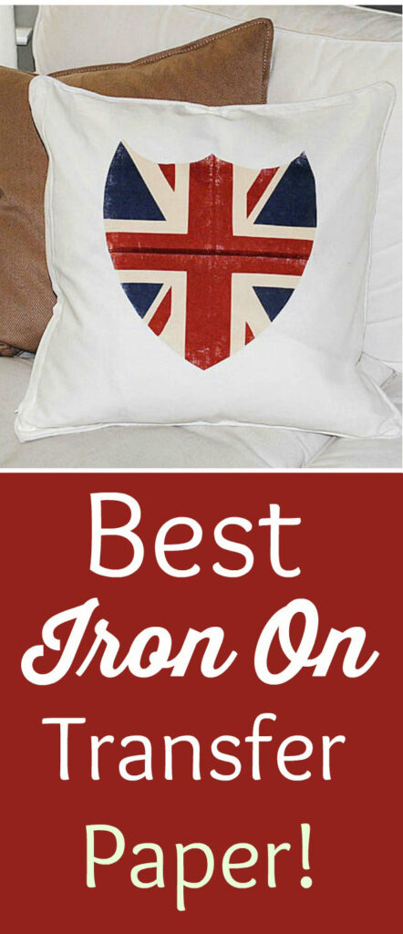 Iron On Transfer Paper Pinterest Graphic with Union Jack Shield Pillow