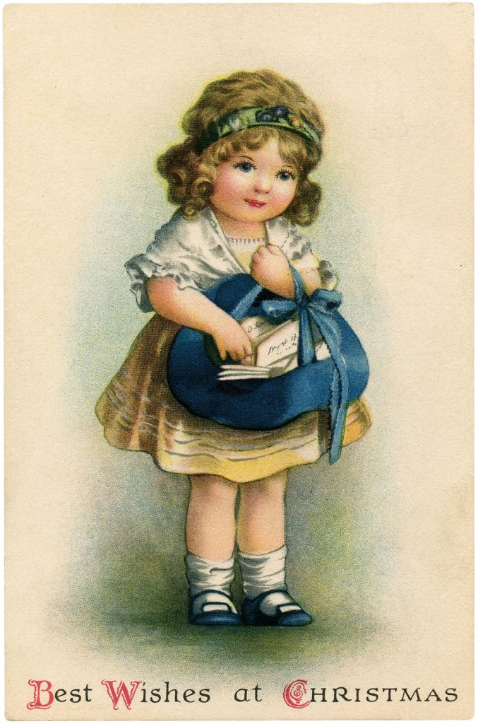 Christmas Card Girl Freebie