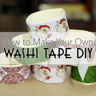 How to Make Your Own Washi Style Tape DIY