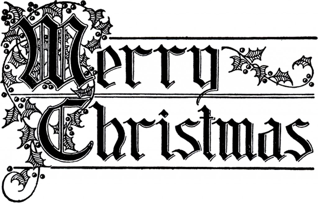 Merry Christmas Typography Image