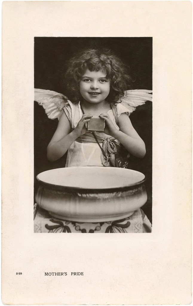 Vintage Photo of an Angel Girl