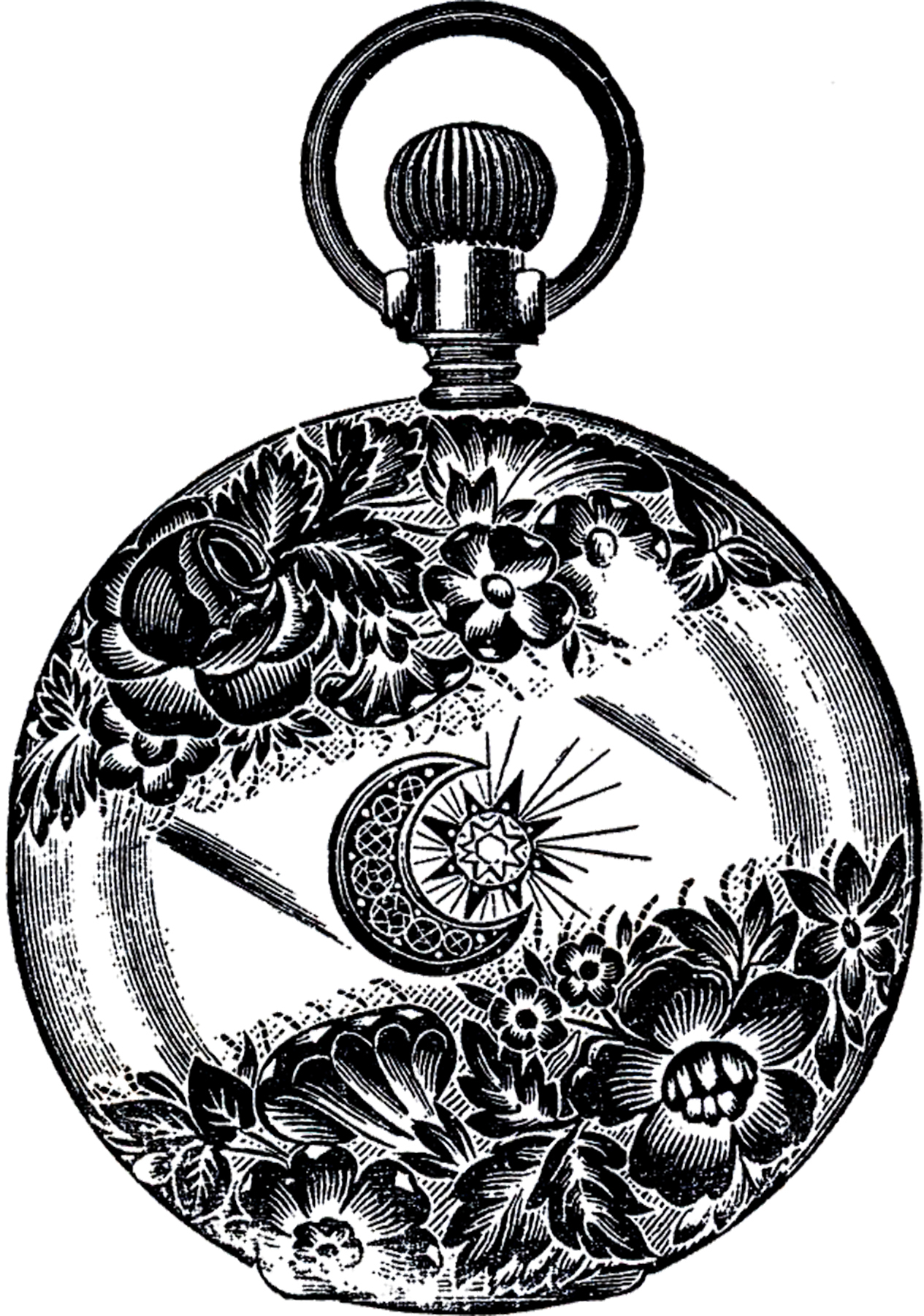 Pocket Watch Drawings: Public Domain Pocket Watch Image