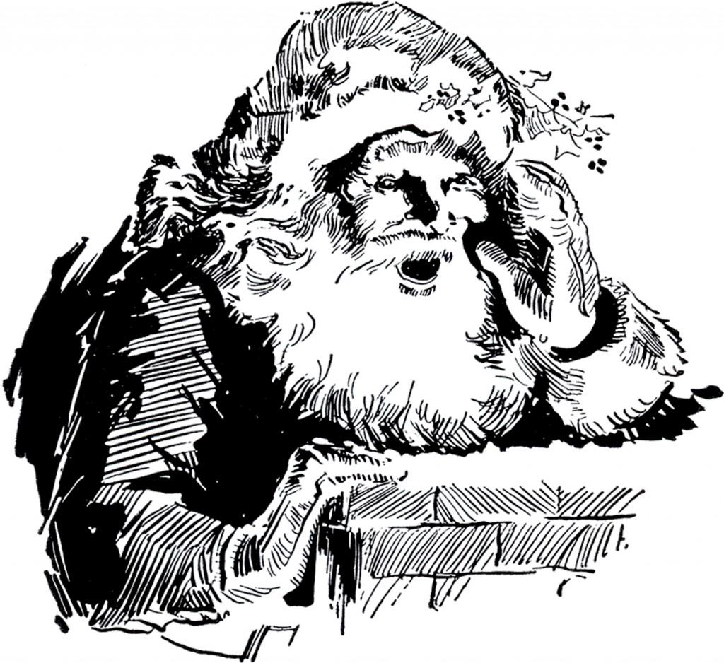 Santa with Chimney Image