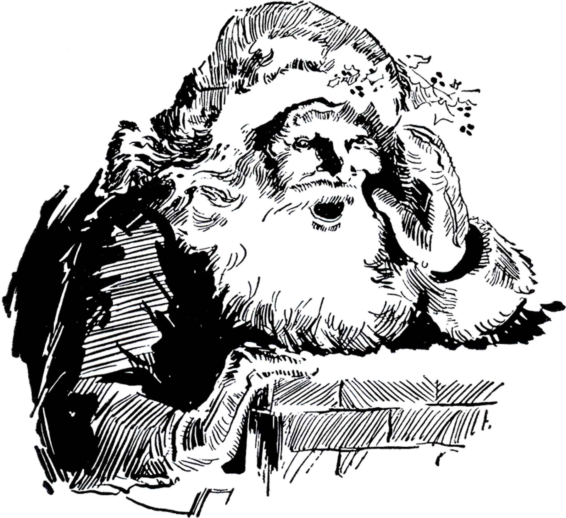 Santa with Chimney Image! - The Graphics Fairy