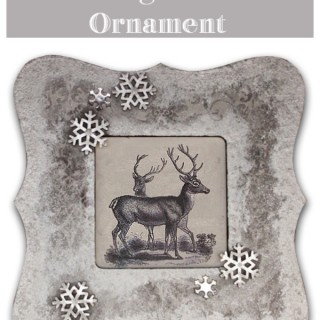 Simple and Quick Vintage Deer Christmas Ornament!