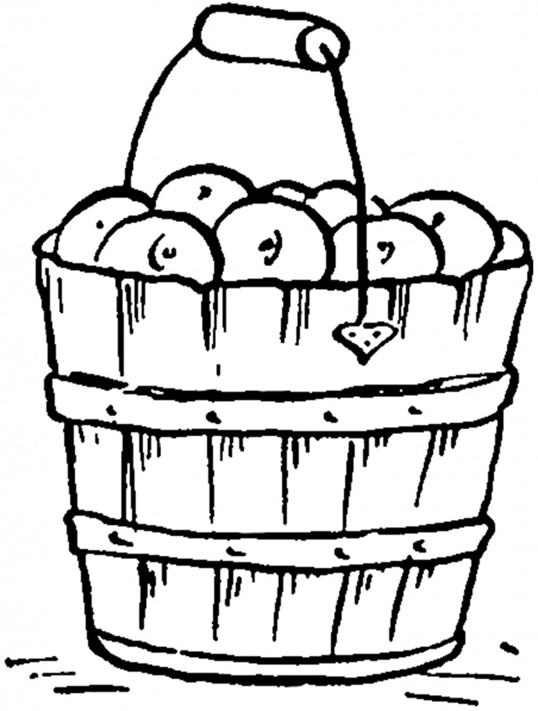 Vintage Apple Bucket Image
