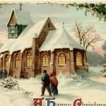 Vintage Christmas Church Image – Beautiful!