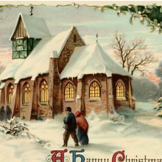 Vintage Christmas Church Image Beautiful