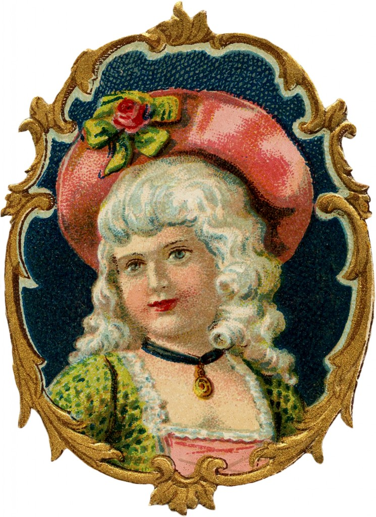 Vintage Colonial Girl Image