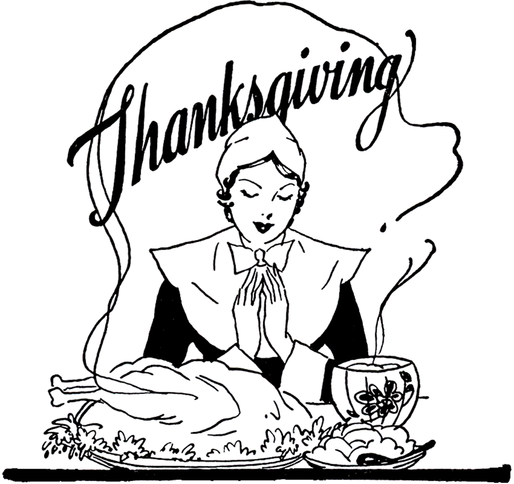 Thanksgiving Grace Image The Graphics Fairy