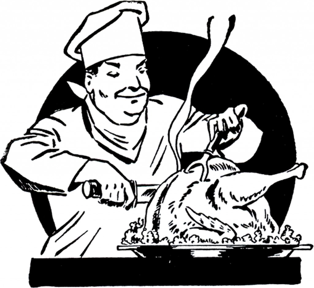 Vintage Turkey Carving Image