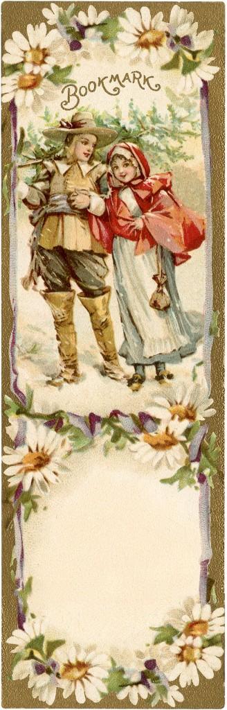 Vintage Winter Bookmark Download