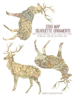 deer_map_ornament_graphicsfairy