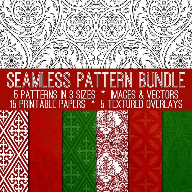 Holiday Seamless Pattern Bundle