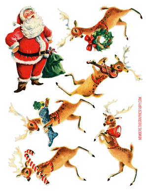 retro_collage_sheet_reindeer_graphicsfairy