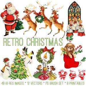 Retro Christmas Kit
