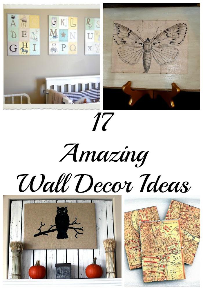 17 Amazing DIY Wall Decor Ideas - The Graphics Fairy