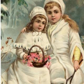 Beautiful Snow Children Image – Stunning Graphic!