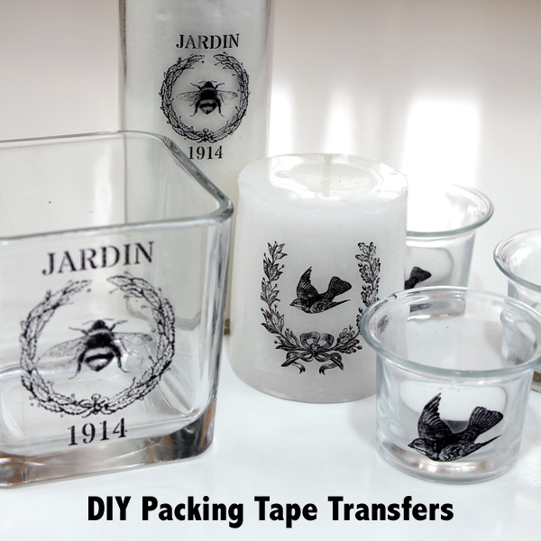 Diy Packing Tape Transfers The Graphics Fairy