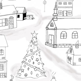 Free Printable Christmas Coloring Page!