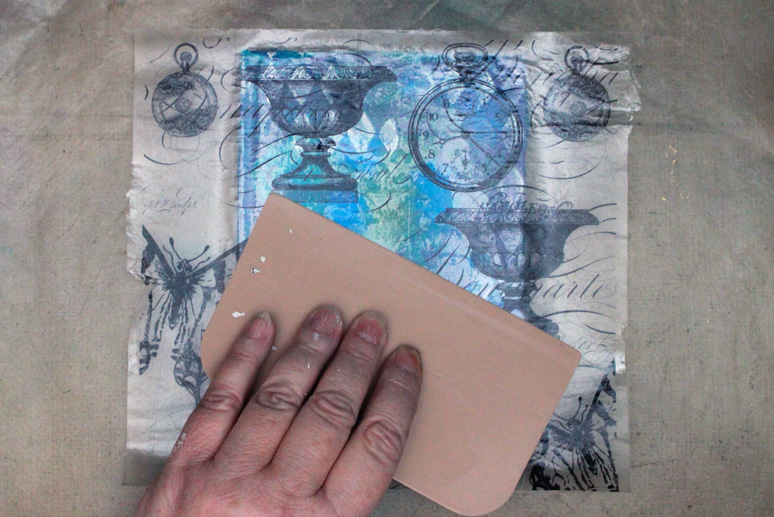 Ice-Resin-Collage-Paper-Gelli-Journal-Spreading-Glue