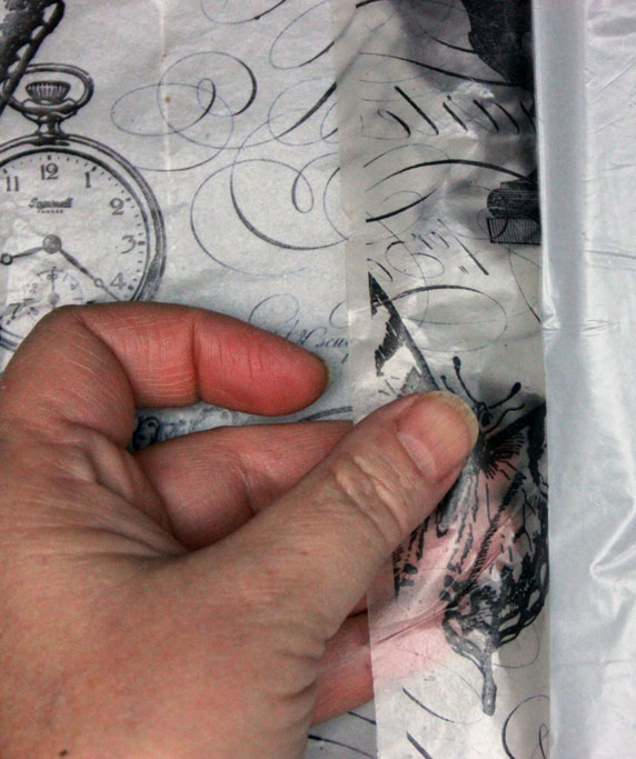 Ice-Resin-Collage-Paper-Peeling-Back