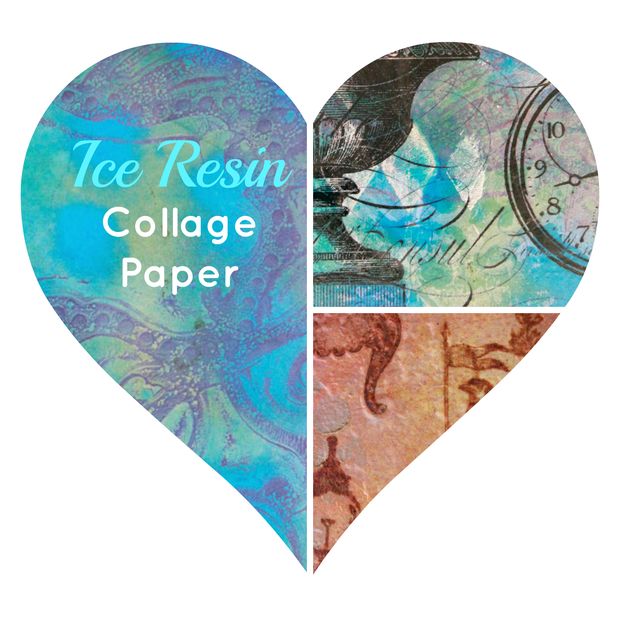 Ice Resin Heart Montage